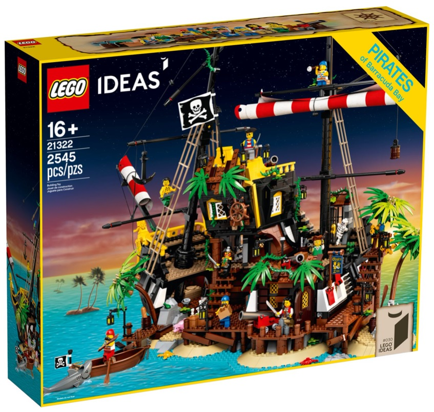 LEGO IDEAS 21322 Pirates of Barracuda Bay Top Set for Adults 18+
