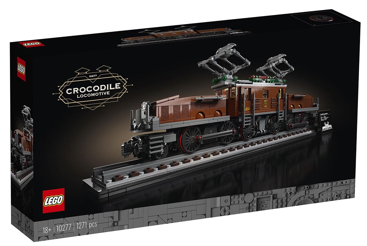 LEGO 10277 Crocodile Locomotive Top Set for Adults 18+