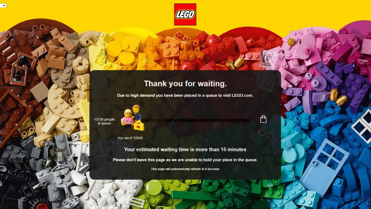 Lego Shop At Home Website Queue Line Waiting Page Black Friday Toys N Bricks