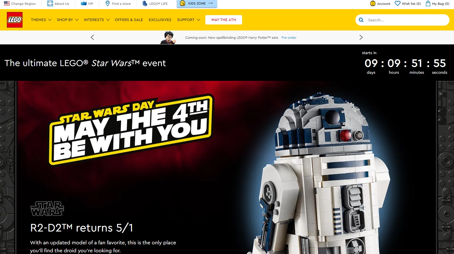 May The 4th Be With You May 2021 Lego Star Wars Days Promotions Offers Details Toys N Bricks